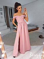 Женское элегантное платье в пол с разрезом в расцветках. СФ-13-0319