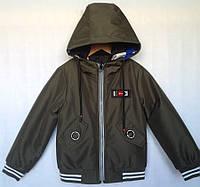 """Куртка-ветровка двухсторонняя детская """"SK"""" #JKI-008 для мальчиков 5-6-7-8-9 лет (110-134см). Хаки. Опт, фото 1"""