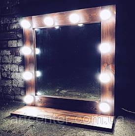 Гримерное дзеркало настільне на підставці, дзеркало з підсвіткою