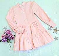 """Платье детское """"Адель"""", р. s (116 см) , персик, фото 1"""