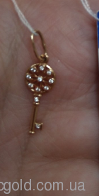Золотий підвіс Ключик від серця