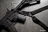 Тактический оружейный 1-2 точечный ремень Magpul MS3 МОЕ (США) - ЧЁРНЫЙ, фото 3
