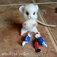 Мышка -  авторская игрушка из шерсти, сухое валяние., фото 1