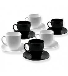 Carine Black/White Чайный сервиз 12 пр. 220мл Luminarc D2371