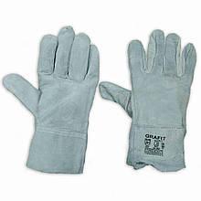 Термостойкие перчатки, спилковые, краги, пятипалые GRAFIT (120 пар/ящик)