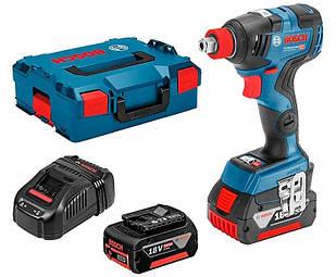 Аккумуляторный гайковерт Bosch GDR 18V-200 C + 25 Ah + ЗУ GAL 1880 CV + L-BOXX 136 (06019G4201)