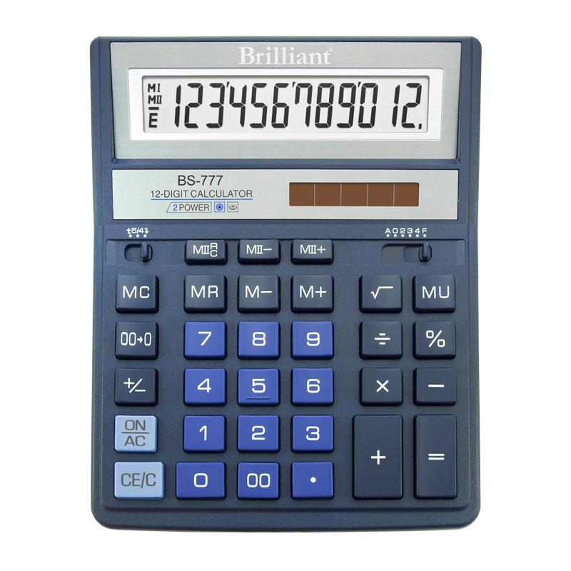 Калькулятор Brilliant BS-777ВL, 12 розрядів, синій