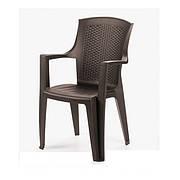 Кресло пластиковое Eden коричневое