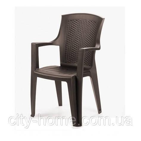 Кресло пластиковое Eden коричневое, фото 2
