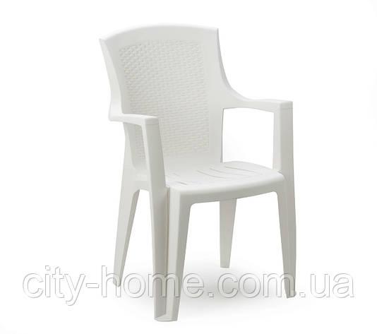 Кресло пластиковое Eden белое, фото 2