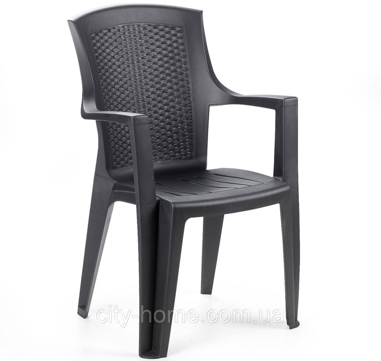 Кресло пластиковое Eden антрацит