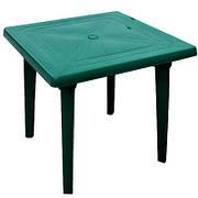 Стол пластиковый квадратный 80x80 см зеленый