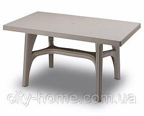 Стол пластиковый Intercciata антрацит, серо-бежевый, бронза, фото 3