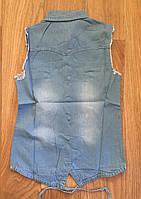 Джинсовые рубашки для девочек оптом, S&D,134-164 рр.,  Арт. KK-742, фото 5