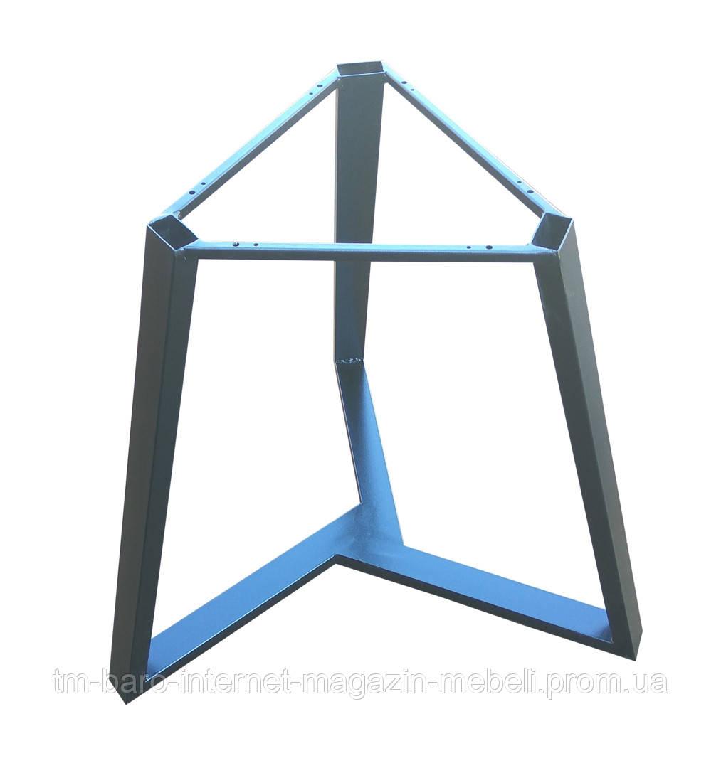 Опора для стола Трио сталь d430, h725, d700 черный, Аурит