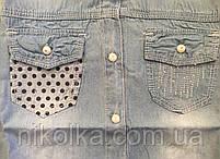 Джинсовые рубашки для девочек оптом, S&D,134-164 рр.,  Арт. KK-742, фото 3
