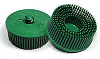 Круги Scotch-Brite™ Roloc™ Bristle RD-ZB 07526, для изделий из нержавеющей стали, d 75 мм, P50, зеленый