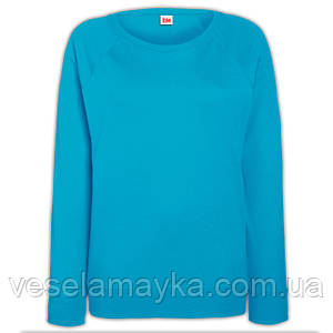 Женский свитшот бирюзового цвета (Толстовка- реглан)