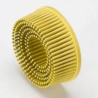 Круги Scotch-Brite™ Roloc™ Bristle RD-ZB 07527, для изделий из нержавеющей стали, d 75 мм, P80, желтый