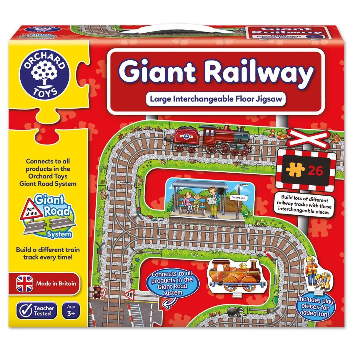 """Підлоговий пазл """"Залізниця"""" Orchard Toys - 22 елемента"""