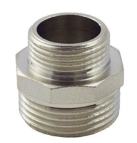 Ниппель латунный переходной FADO 1 1/2х1/2 НН никель