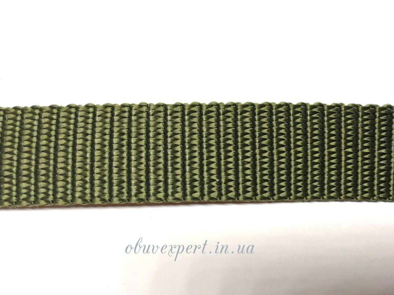 Ременная лента 30 мм толщ 1,8 мм  Полипропеленовая, цв. хаки
