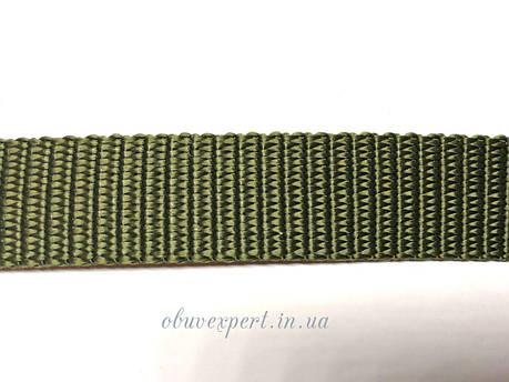Ременная лента 30 мм толщ 1,8 мм  Полипропеленовая, цв. хаки, фото 2