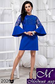 Женское яркое короткое платье (р. S, M) арт. 20261 S
