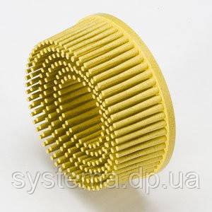 Круги Scotch-Brite™ Roloc™ Bristle RD-ZB 07525, для изделий из нержавеющей стали, d 50 мм, P80, желтый