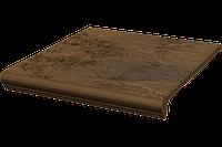 Клинкерная плитка Semir Beige Paradyz ступень с капиносом, 6 шт/уп., фактурная, 59.42 €/уп., 330*300*11 мм
