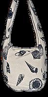 Пляжная сумка, материал лен, сумка Ракушка, фото 1