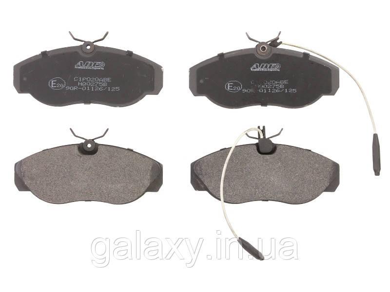 Тормозные колодки передние CITROEN JUMPER; FIAT DUCATO; PEUGEOT BOXER 1.9D-2.8D 07.94 - 2002
