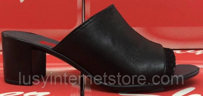 a86cdfd62 Летние сабо кожаные на каблуке от производителя модель СТЛ11К, фото 2