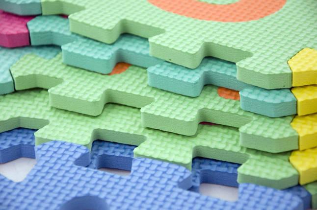 Детский развивающий коврик-пазл мозаика 10шт, фото 2