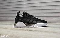 Женские кроссовки Adidas AF 1.4 Primeknit Black White, фото 1