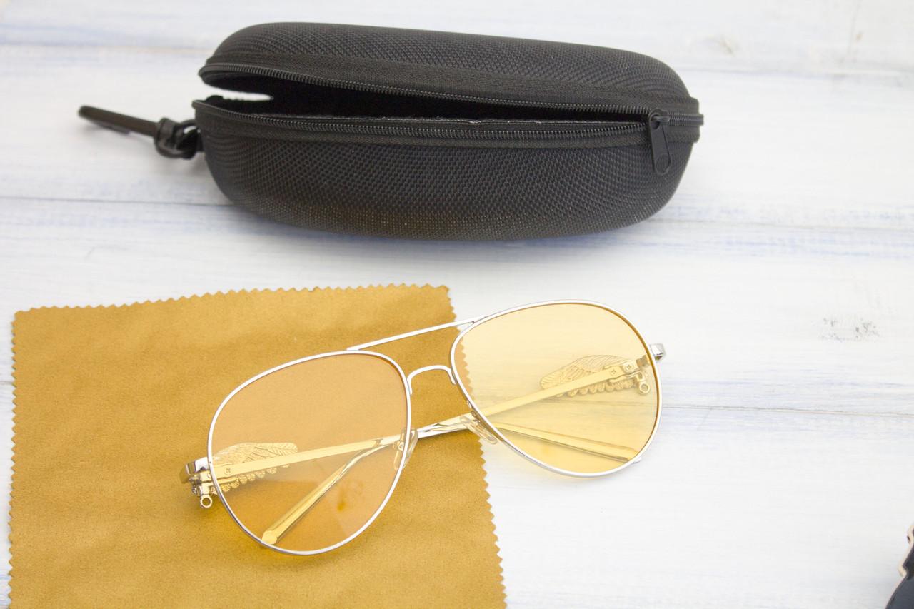 Очки с футляром желтые (F1172-2)  Реплика