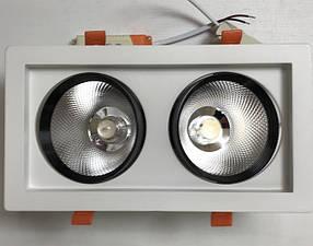 Светодиодный светильник поворотный SEAN SC36WW 36W 3000K белый Код.59517
