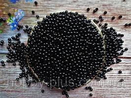 Жемчуг дорогой искусственный, 4 мм, цвет черный, 10 грамм (~350 шт)