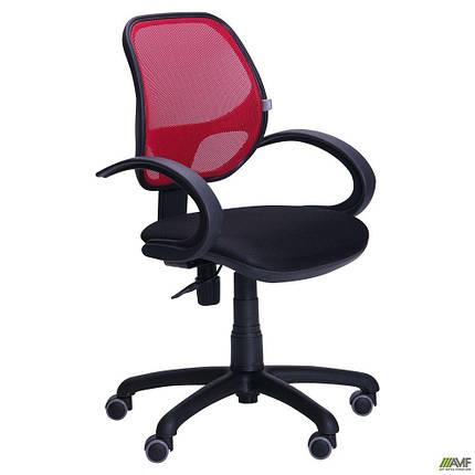 Кресло Байт/АМФ-5 сиденье Сетка черная/спинка Сетка красная TM AMF, фото 2