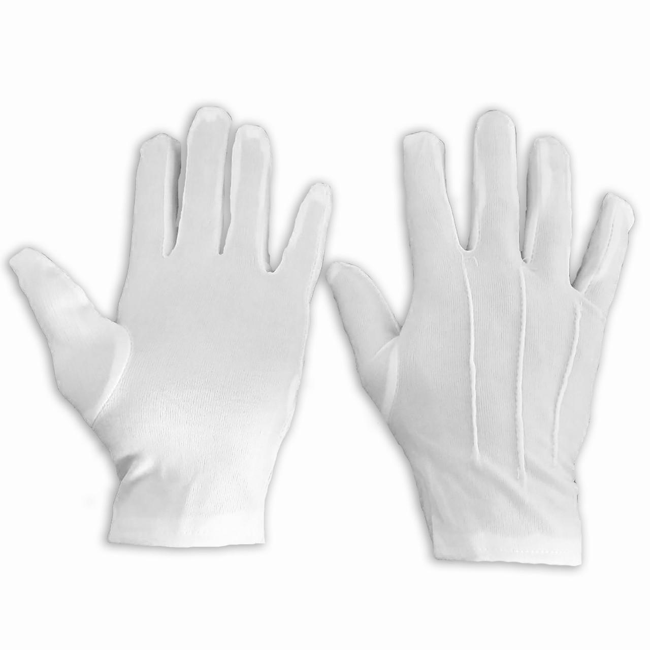 Рукавички нейлонові білі, розмір — L, упаковка — 12 пар
