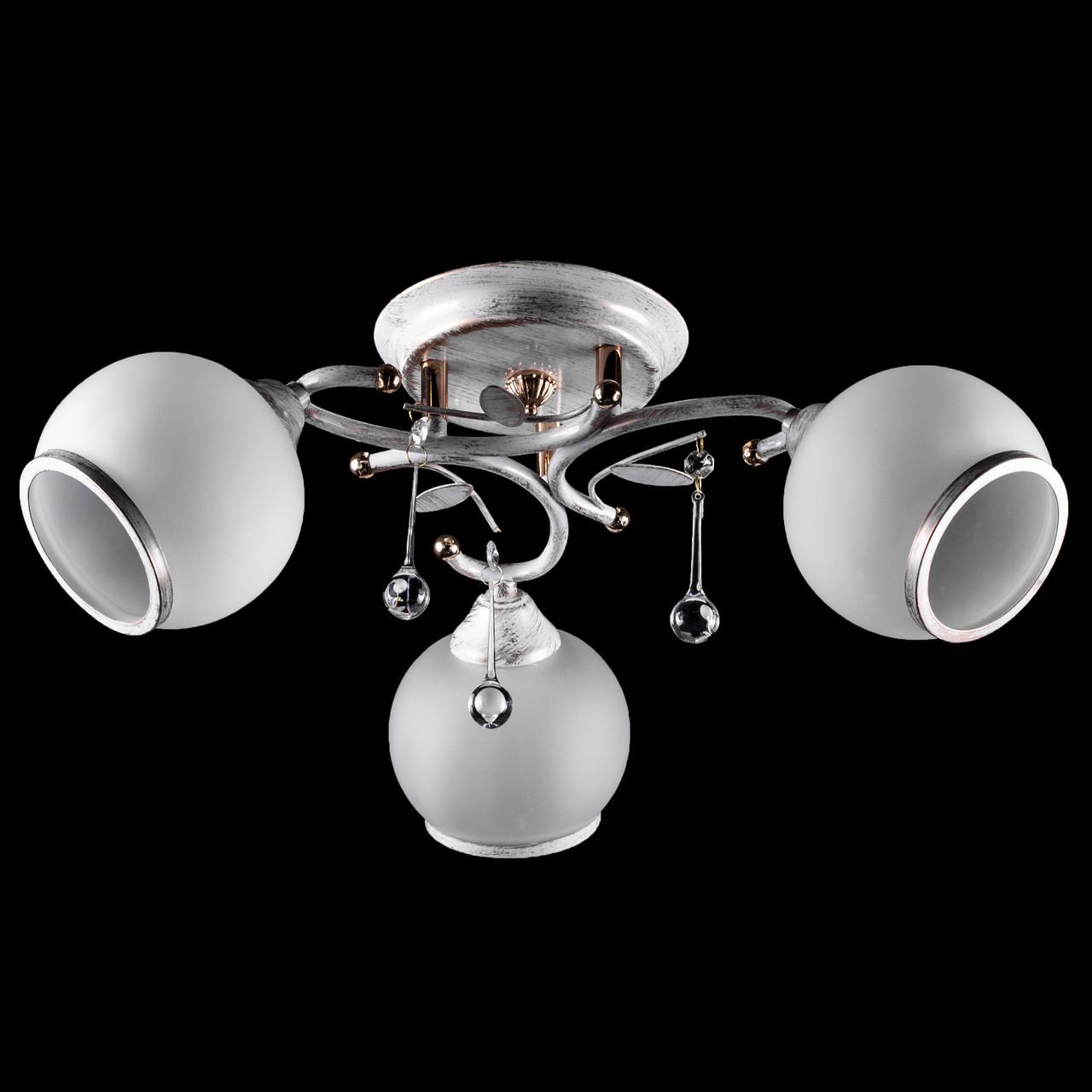 Стельова люстра на три лампочки (золота патина) P3-37390/3C/TG+WT