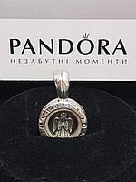Кулон подвеска Пандора Медальон маленький с плавающим петитом Ангел