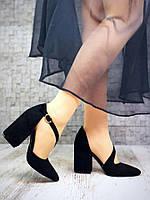 Женские замшевые черные туфли Margarite, фото 1