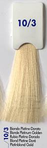 Безаммиачная крем-краска INEBRYA AMMONIA FREE BIONIC COLOR 10/3 Платиновый Золотистый Блондин