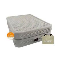 Надувная односпальная велюровая кровать премиум-класса INTEX 66964