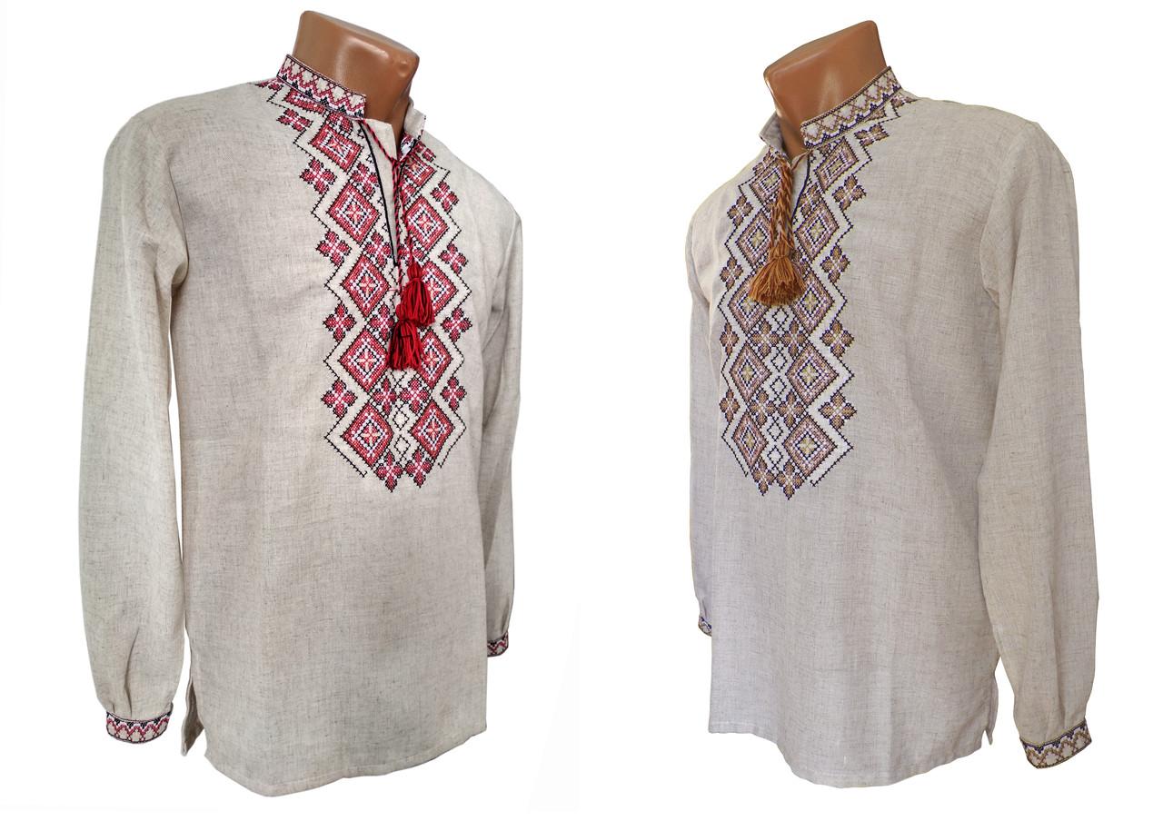Святкова чоловіча сорочка із вишивкою у великих розмірах