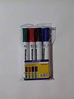 Набор маркеров для белой доски (для флипчарта, маркерной доски), 4 цвета
