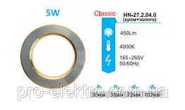 Світильник вбудований LED PANEL RIGHT HAUSEN коло CLASSIC 5W 4000K IP20 хром/золото HN-272040