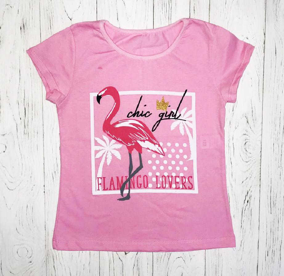 """Футболка для девочки """"Фламинго"""""""