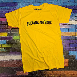 Футболка Fucking Awesome жёлтая • Бирки ориг • Все размеры